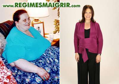 Nancy Makin avant et après son amaigrissement peu banal