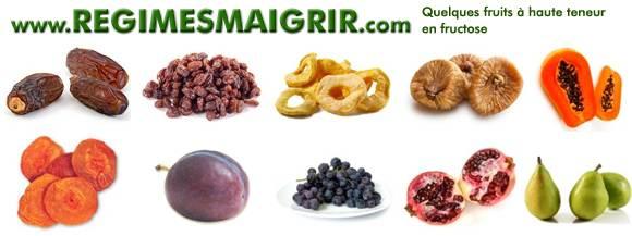 Certains fruits sont riches en fructose et sont à consommer en modération pour ne pas dépasser votre quota quotidien