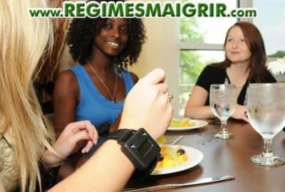 Un appareil se propose de comptabiliser le nombre de mouvements effectués par le poignet pour emmener la nourriture à la bouche