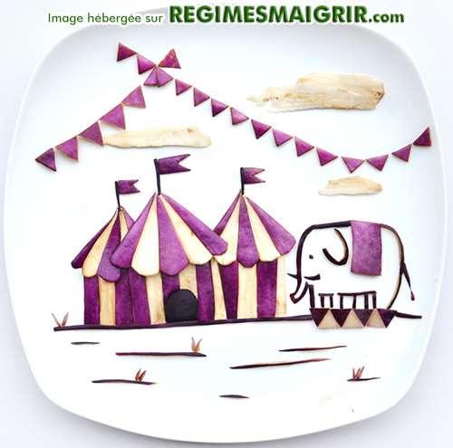 Un cirque composé de légumes