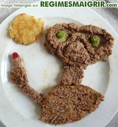 Hamburger en forme d'E.T. l'extraterrestre