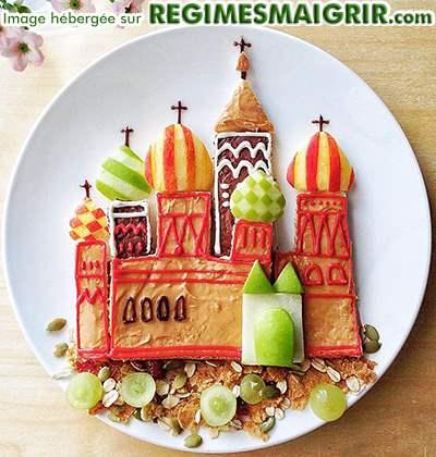 Le Kremlin est refait en nourritures ici