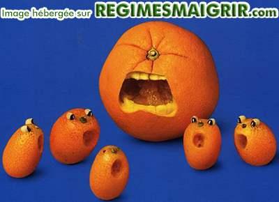 Scultpures faites dans des oranges