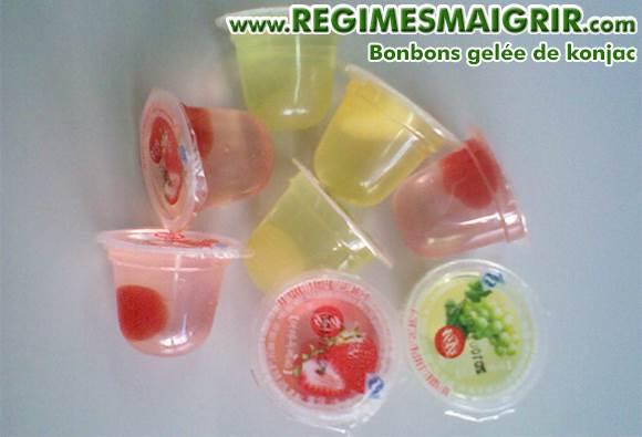 Les bonbons de gelée de konjac ont été interdits aux Etats-Unis dès 2001