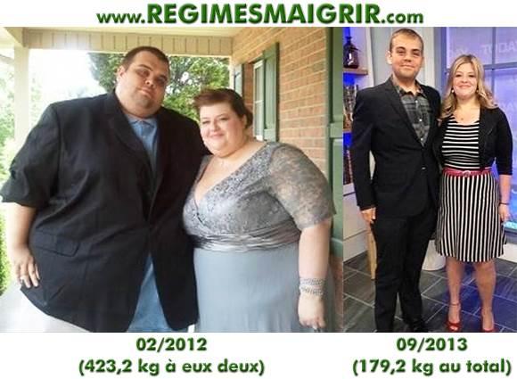 Le couple Shelton avait réussi à perdre 244 kilos en tout sur 19 mois