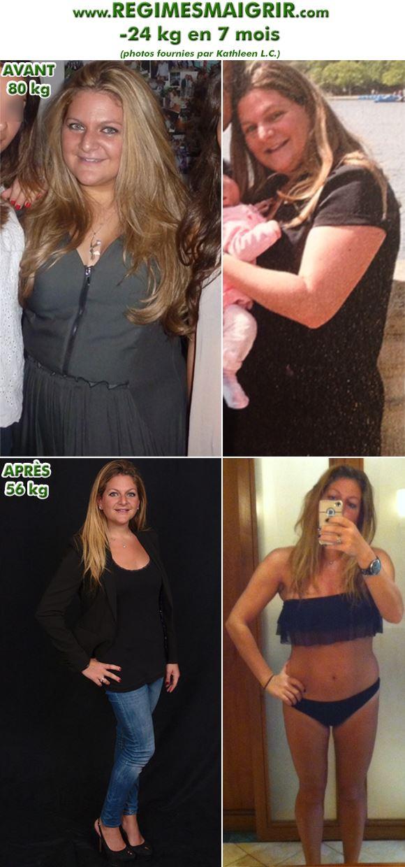 Amaigrissement de vingt-quatre kilos en sept mois de Kathleen
