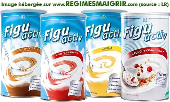 Les shakes de la gamme FiguActiv existent en divers goûts