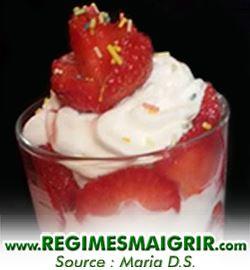 Photo du plat fromage blanc aux fraises