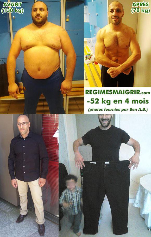 Ben Anter Belkacem a perdu cinquante-deux kilogrammes en quatre mois en mangeant sainement et en faisant beaucoup de sport