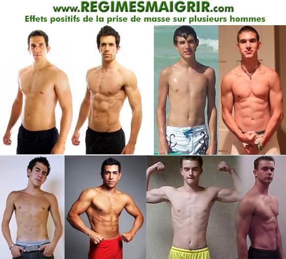 Quelques exemples de prise de masse réussie chez les hommes
