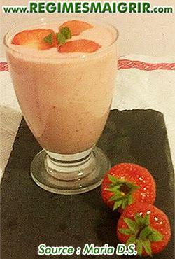 Photo du dessert smoothie aux fraises
