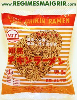 Photo de Chikin Ramen qui reste le premier paquet de nouilles instantanées à être commercialisé au Japon en 1958
