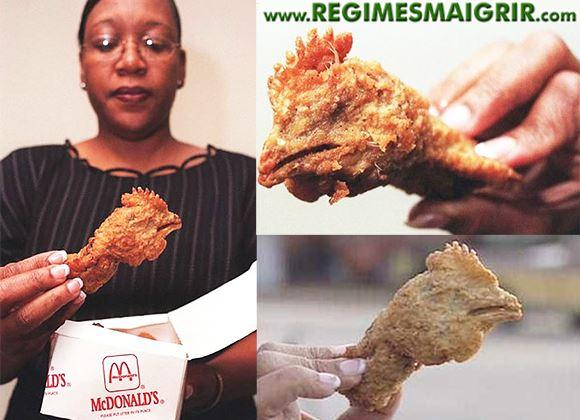 Une tête de poulet est frite par manque de contrôle dans un repas Happy Meal