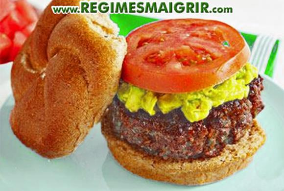Hamburger au guacamole