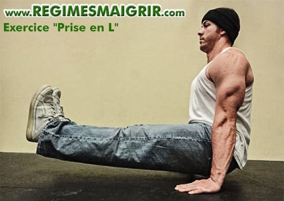Exercice de calisthénie Prise en L