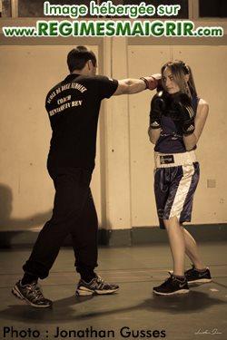Séance d'entraînement entre Benjamin Hennequin et Anna-Maria Lopez
