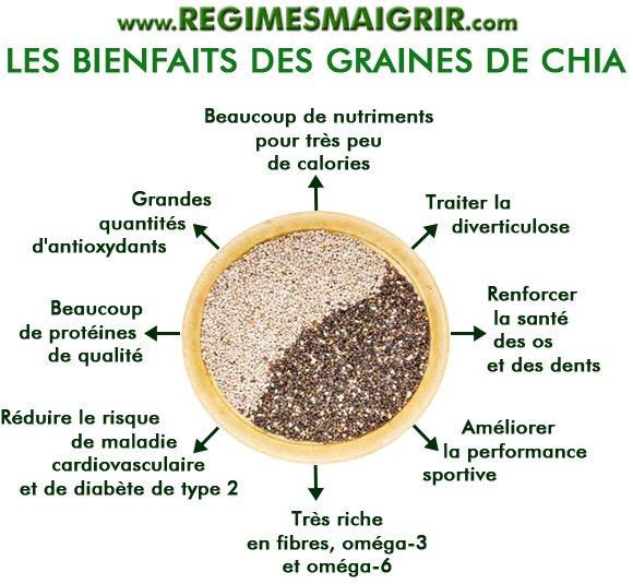 Les vertus des graines de chia sont fort nombreuses