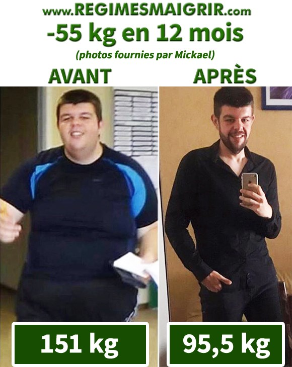 Voici comment Mickael a transformé son corps en 12 mois en perdant 55 kilogrammes