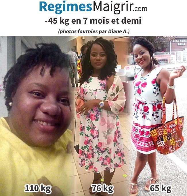 Voici comment Diane a transformé son corps en 7 mois et demi en perdant 45 kilos