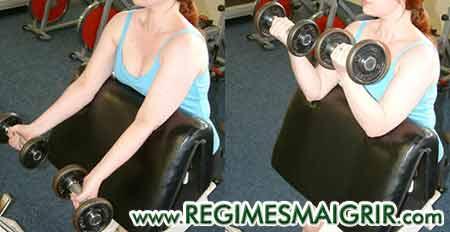 La flexion du biceps aide à tonifier les bras