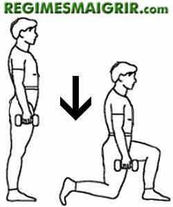 La fente avant fait travailler vos muscles fessiers