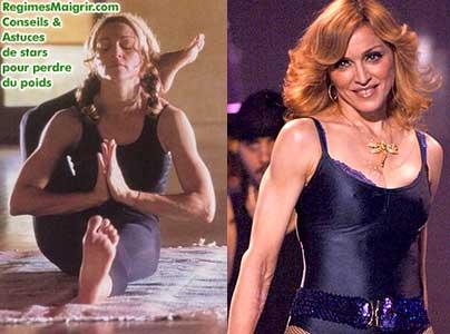 Madonna fait du yoga pour accompagner son régime macrobiotique