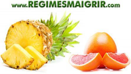 Le régime ananas et pamplemousse est basé sur ces deux fruits pour faire maigrir