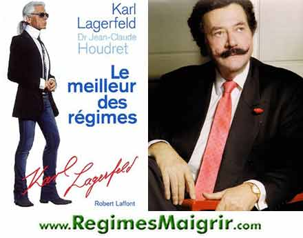 La couverture du livre de base du régime Karl Lagerfeld, co-écrit avec le docteur Jean-Claude Houdret