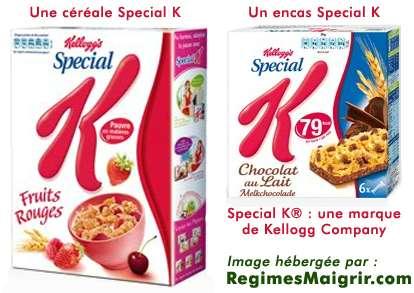 Le régime Mon Special K est à base de céréales de la marque homonyme