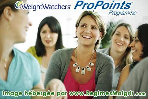 Exemple de réunion Weight Watchers où l'ambiance est bonne